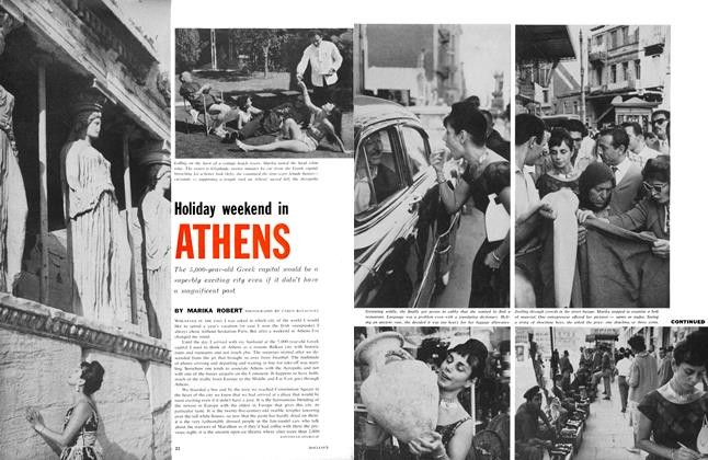 Article Preview: Holiday weekend in ATHENS, April 1961 | Maclean's