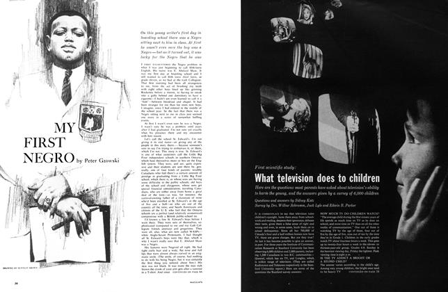 Article Preview: First scientific study: What television does to children, April 1961 | Maclean's