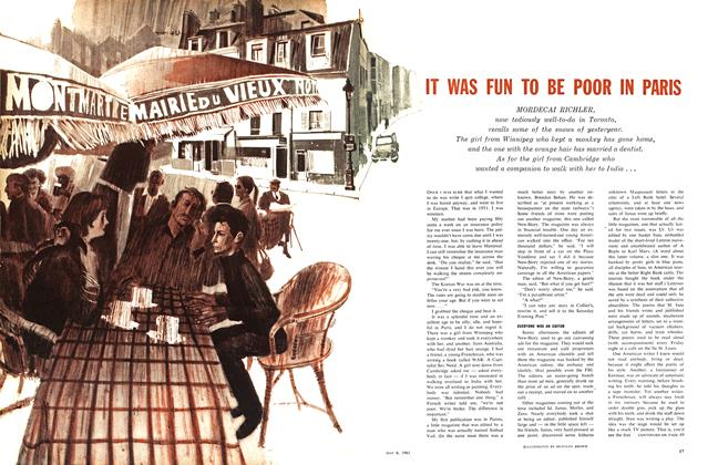 Article Preview: IT WAS FUN TO BE POOR IN PARIS, May 1961 | Maclean's