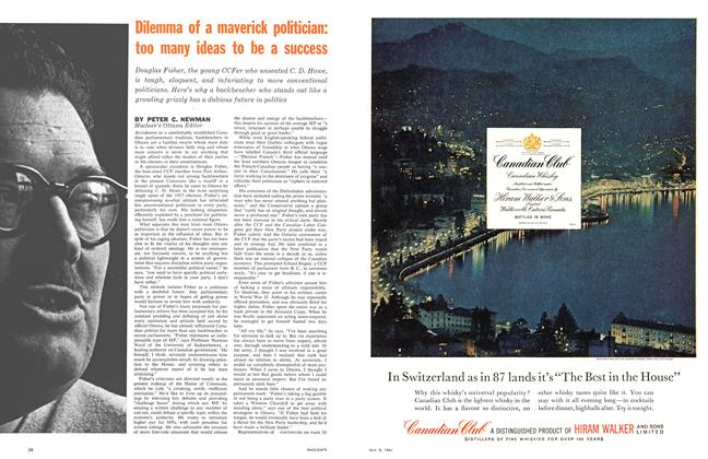 Article Preview: Dilemma of a maverick politician: too many ideas to be a success, May 1961   Maclean's
