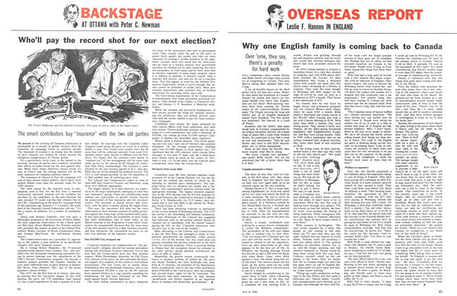 Article Preview: Who'll pay the record shot for our next election?, May 1961 | Maclean's