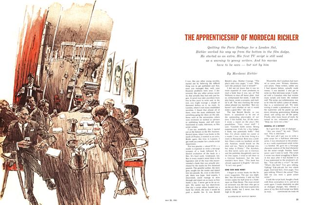 Article Preview: THE APPRENTICESHIP OF MORDECAI RICHLER, May 1961   Maclean's