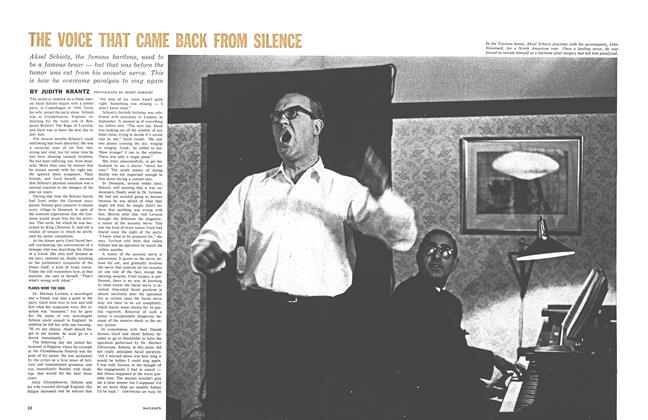 Article Preview: THE VOICE THAT CAME BACK FROM SILENCEO, May 1961 | Maclean's