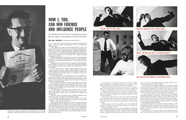 Article Preview: NOW I, TOO, CAN WIN FRIENDS AND INFLUENCE PEOPLE, May 1961 | Maclean's