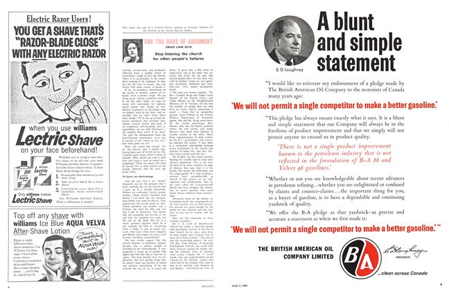 Article Preview: FOR THE SAKE OF ARGUMENT, June 1961 | Maclean's