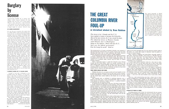Article Preview: THE GREAT COLUMBIA RIVER FOUL-UP, June 1961 | Maclean's