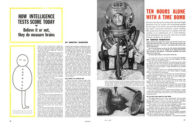 Article Preview: TEN HOURS ALONE WITH A TIME BOMB, July 1961 | Maclean's