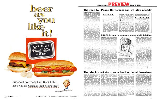 Article Preview: The stock markets draw a bead on small investors, July 1961 | Maclean's