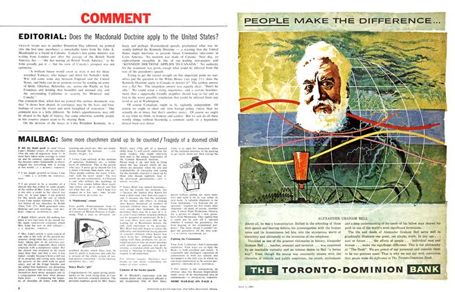 Article Preview: EDITORIAL, July 1961 | Maclean's
