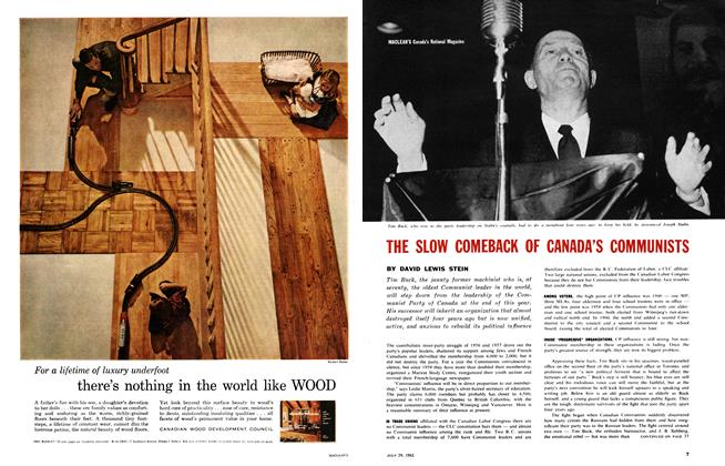 Article Preview: THE SLOW COMEBACK OF CANADA'S COMMUNISTS, July 1961 | Maclean's