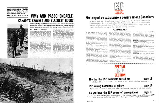 Article Preview: VIMY AND PASSCHENDAELE: CANADA'S BRAVEST AND BLACKEST HOURS, July 1961 | Maclean's
