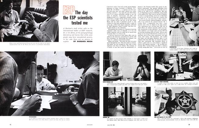 Article Preview: The day the ESP scientists tested me, July 1961 | Maclean's