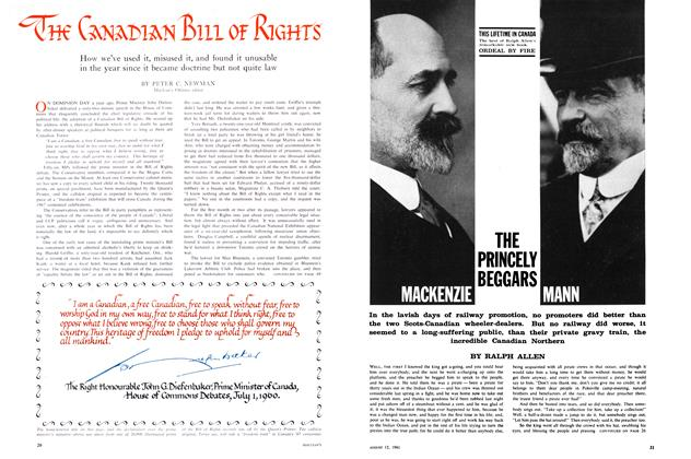 Article Preview: THE CANADIAN BIII OF RIGHTS, August 1961 | Maclean's