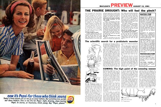 Article Preview: COMING: The high point of the sneezing season, August 1961   Maclean's