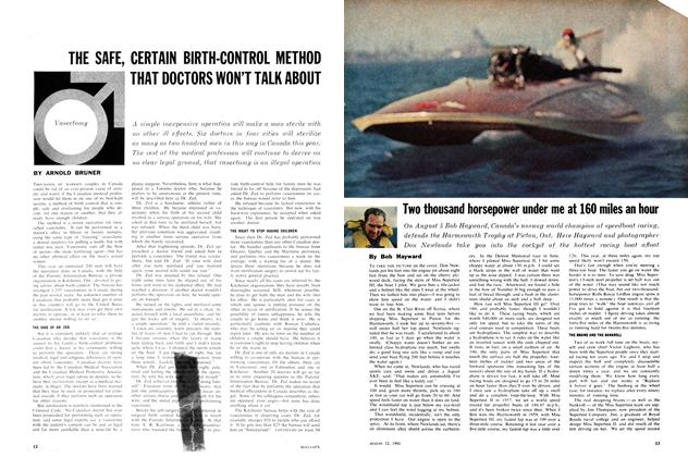 Article Preview: THE SAFE, CERTAIN BIRTH-CONTROL METHOD THAT DOCTORS WON'T TALK ABOUT, August 1961   Maclean's