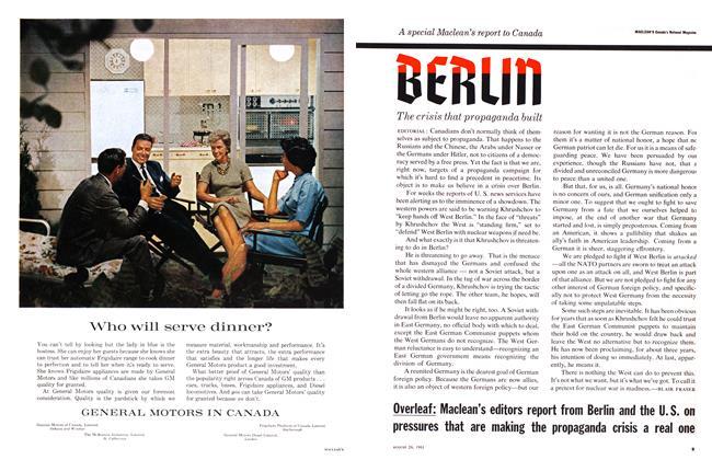 Article Preview: BERLIN, August 1961 | Maclean's