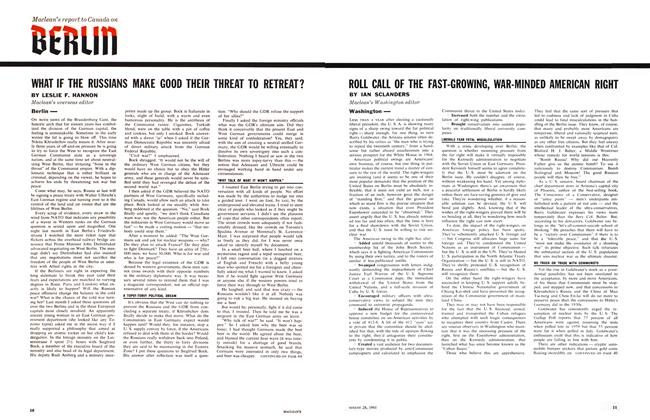 Article Preview: ROLL CALL OF THE FAST-GROWING, WAR-MINDED AMERICAN RIGHT, August 1961 | Maclean's