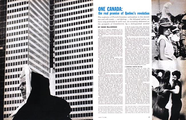 Article Preview: the real promise of Quebec's revolution, August 1961 | Maclean's