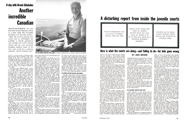 Article Preview: Another incredible Canadian, September 1961 | Maclean's