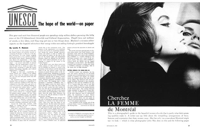 Article Preview: UNESCO The hope of the world—on paper, September 1961 | Maclean's