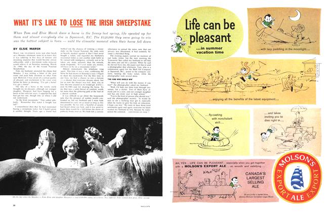 Article Preview: WHAT IT'S LIKE TO LOSE THE IRISH SWEEPSTAKE, September 1961 | Maclean's