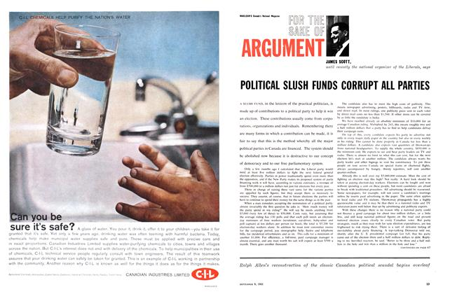 Article Preview: POLITICAL SLUSH FUNDS CORRUPT ALL PARTIES, September 1961 | Maclean's