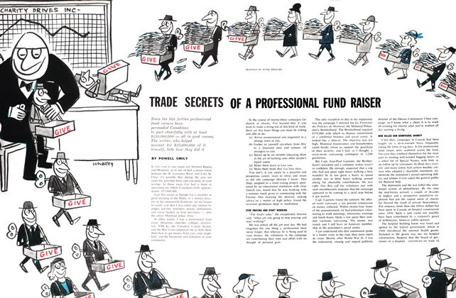 Article Preview: TRADE SECRETS OF A PROFESSIONAL FUND RAISER, September 1961 | Maclean's