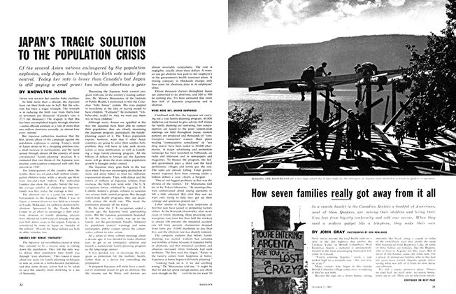 Article Preview: How seven families really got away from it all, October 1961 | Maclean's