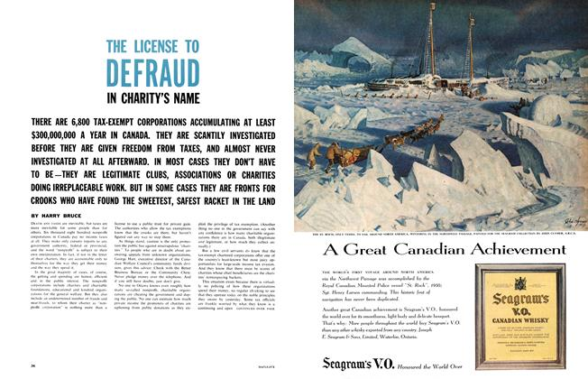 Article Preview: THE LICENSE TO DEFRAUD IN CHARITY'S NAME, October 1961 | Maclean's