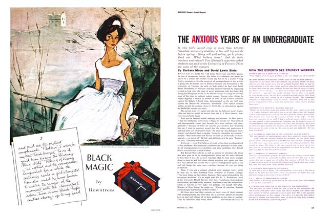 Article Preview: THE ANXIOUS YEARS OF AN UNDERGRADUATE, October 1961 | Maclean's