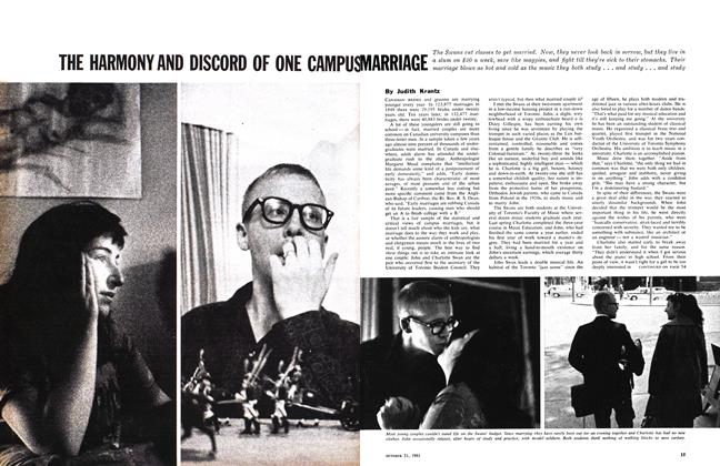 Article Preview: THE HARMONY AND DISCORD OF ONE CAMPUS MARRIAGE, October 1961 | Maclean's