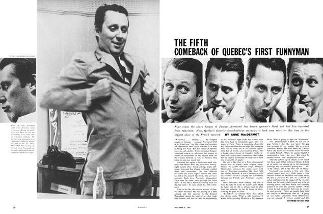 Article Preview: THE FIFTH COMEBACK OF QUEBEC'S FIRST FUNNYMAN, November 1961 | Maclean's