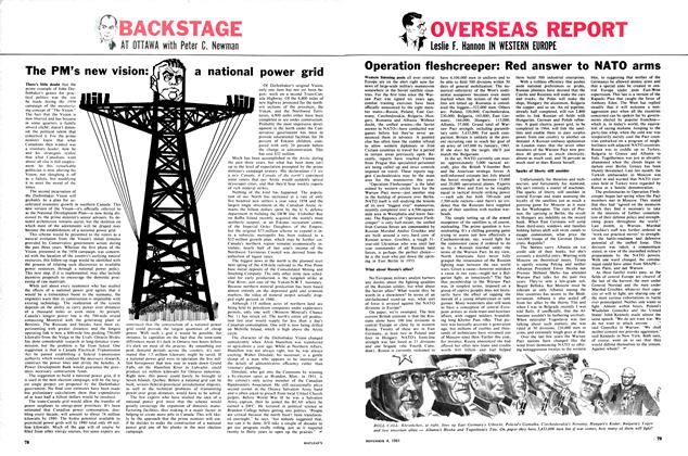 Article Preview: The PM's new vision: a national power grid, November 1961 | Maclean's