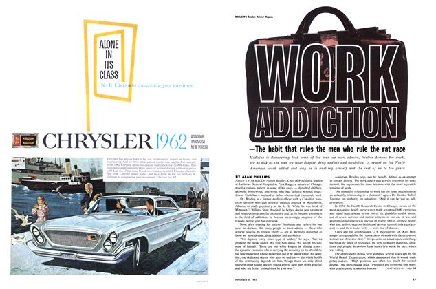 Article Preview: WORK ADDICTION, November 1961 | Maclean's