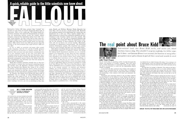 Article Preview: The real point about Bruce Kidd, November 1961 | Maclean's