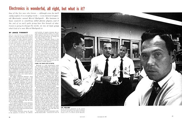 Article Preview: Electronics is wonderful, all right, but what is it?, November 1961 | Maclean's
