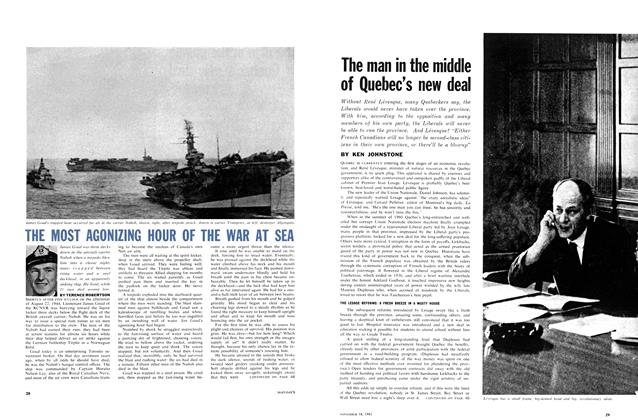 Article Preview: THE MOST AGONIZING HOUR OF THE WAR AT SEA, November 1961 | Maclean's