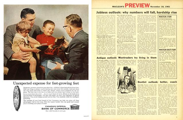 Article Preview: Antique outlook: Montrealers try living in them, November 1961 | Maclean's