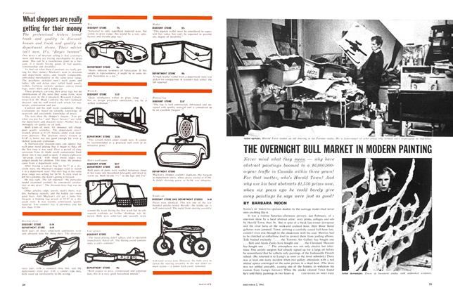 Article Preview: THE OVERNIGHT BULL MARKET IN MODERN PAINTING, December 1961 | Maclean's