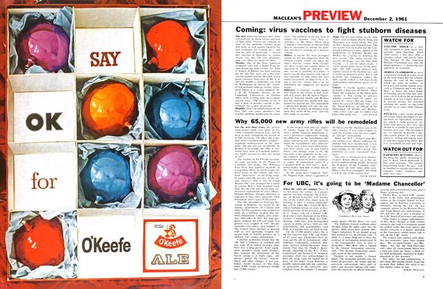 Article Preview: For UBC, it's going to be 'Madame Chancellor', December 1961 | Maclean's