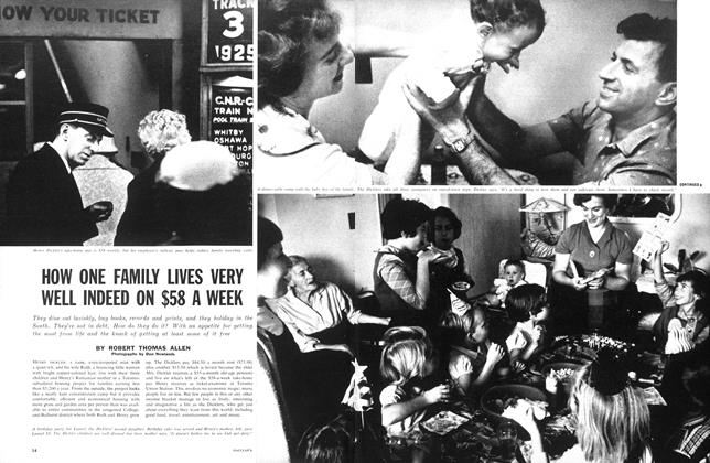 Article Preview: HOW ONE FAMILY LIVES VERY WELL INDEED ON $58 A WEEK, December 1961 | Maclean's