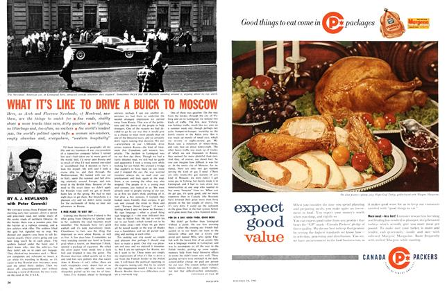 Article Preview: WHAT IT'S LIKE TO DRIVE A BUICK TO MOSCOW, December 1961 | Maclean's