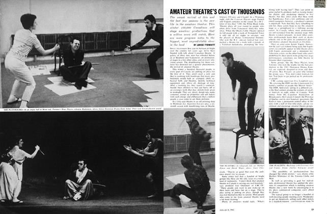 Article Preview: AMATEUR THEATRE'S CAST OF THOUSANDS, January 1962 | Maclean's