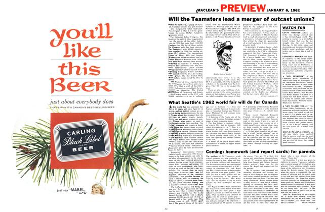 Article Preview: Coming: homework (and report cards) for parents, January 1962 | Maclean's
