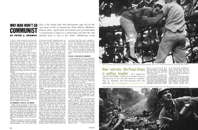 Article Preview: How—and why—the Peace Corps is getting tougher, January 1962 | Maclean's