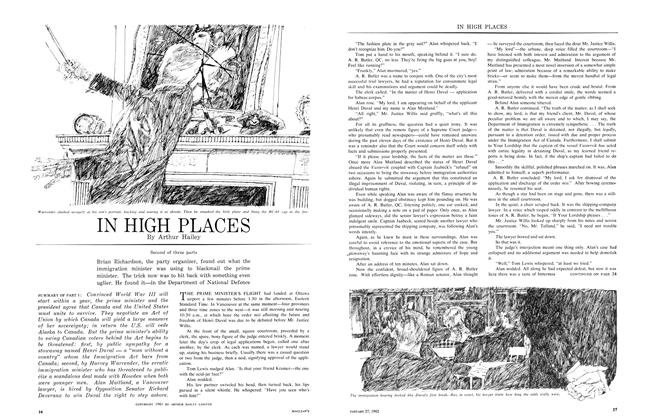 Article Preview: IN HIGH PLACES, January 1962 | Maclean's