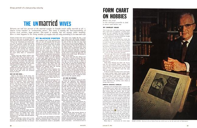 Article Preview: THE UNmarried WIVES, January 1962 | Maclean's