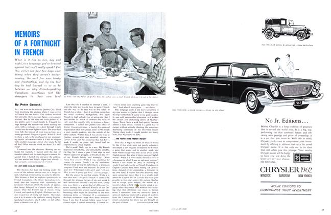 Article Preview: MEMOIRS OF A FORTNIGHT IN FRENCH, January 1962   Maclean's
