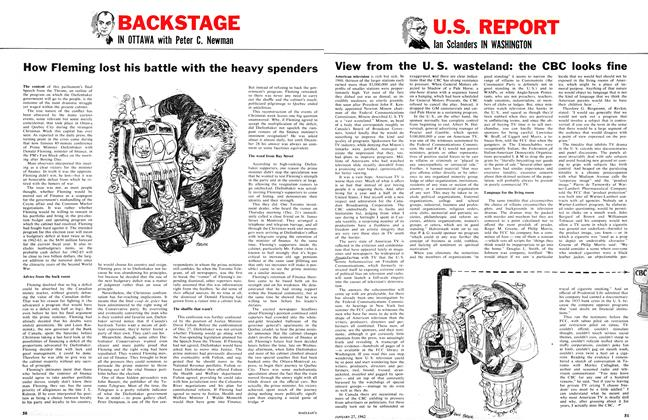 Article Preview: View from the U. S. wasteland: the CBC looks fine, January 1962 | Maclean's