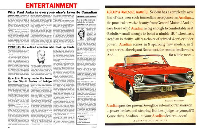 Article Preview: Why Paul Anka is everyone else's favorite Canadian, January 1962 | Maclean's